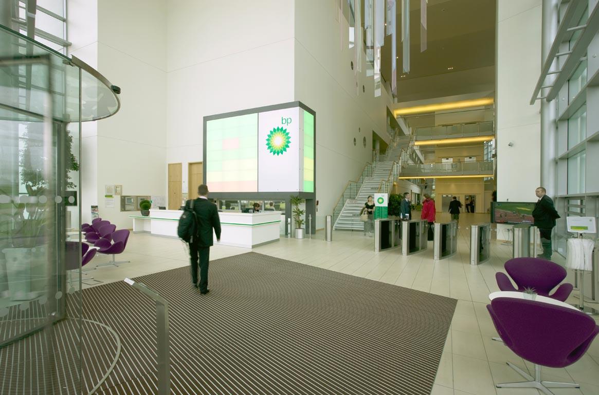 Foyer Office Uk : Bp north sea headquarters aberdeen sharkey